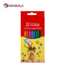 مداد رنگی 12 رنگ پارسا