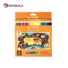 مداد رنگی 24 رنگ وک
