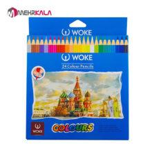 ✏️ مداد رنگی 24 رنگ وک ( مقوایی)